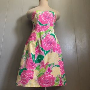 Lilly Pulitzer Floral Strapless Dress
